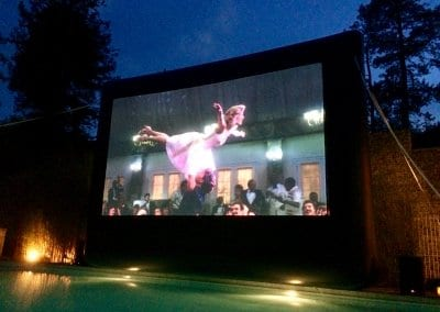 Poolside Cinema - Cowley Manor does Dirty Dancing