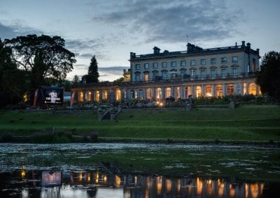 Cowley Manor screening at sunset