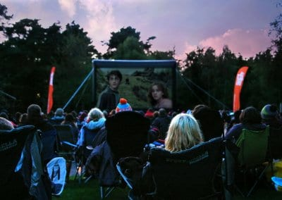 Outdoor Large Event Screen - Haldon Forest Park Exeter