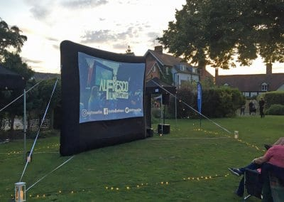 Outdoor Small Event Screen - Colwall Park Hotel Malvern