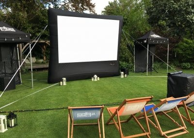 Outdoor Small Event Screen - Private Party Wimbledon
