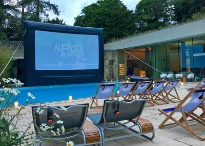 Outdoor Large Screen - C-Side Spa Cowley Manor