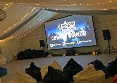 Indoor Event Screen - Cowley Manor